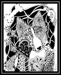 border collie zentangle dog zentangle designs by stacey lynn