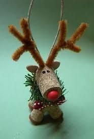 new handmade wine cork reindeer ornament 4 ebay