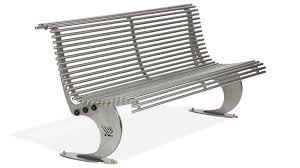 panchine prezzi panchina con schienale realizzata in acciaio inox modello luxe
