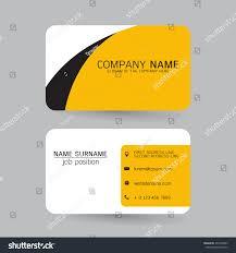 vector modern simple light business card stock vector 435766993