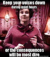 Harry Potter Meme Generator - meme maker keep your voices down during quiet hours or the