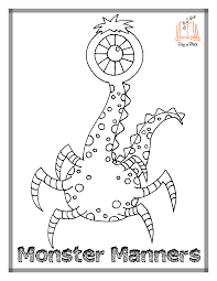 monster manners coloring pages sing a story