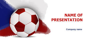 czech republic soccer game powerpoint template u0026 background for