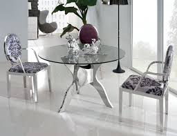 Round Glass Top Dining Table Set Small Glass Dining Room Sets Dining Room Glass Table With Leather