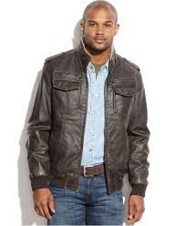 Big And Tall For Mens Clothes Tommy Hilfiger Big And Tall Faux Leather Faux Shearling Lined