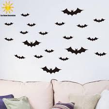 new halloween black bat wall sticker home decor living room