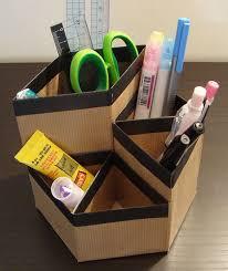 Pen Organizer For Desk Best 25 Cardboard Organizer Ideas On Pinterest Cardboard