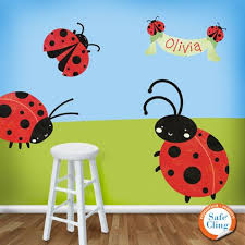 ladybug bedroom ladybug wall stickers decals girls room ladybug wall mural