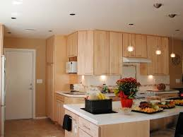 Kitchen  Natural Maple Kitchen Cabinets White Kitchen Island - Natural maple kitchen cabinets