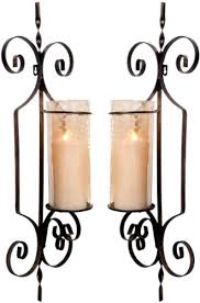 Amazon Candle Sconces Set Of 2 Large Gold Hurricane Wall Sconces Candle Holders 26 Inch