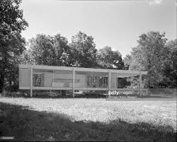 Farnsworth House Rear View Of Farnsworth House Pictures Getty Images