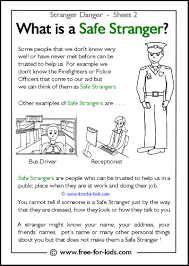 what is a safe stranger free printable activities for toddlers