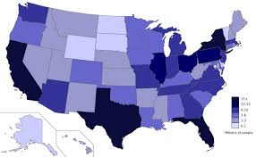 map of us states based on population map of us based on population 1200px map of each state27s
