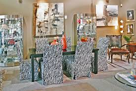 Zebra Dining Chairs Dining Chairs With Zebra Print Slipcovers Encore Consign