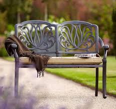 new hartman amalfi 2 seater cast aluminium garden bench seat with