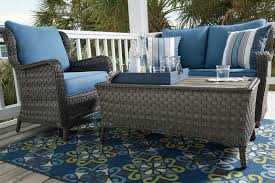 Patio Loveseat Glider Abbots Court Loveseat Glider With Table U0026 2 Lounge Chairs With