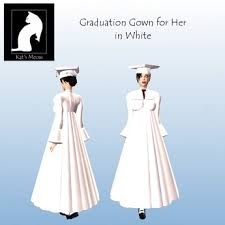white graduation gowns second marketplace km graduation gown hers in white