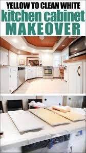 how to clean yellowed white kitchen cabinets s kitchen cabinet makeover how to nest for less