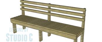 build a vintage wood slat bench u2013 designs by studio c