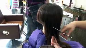 very long to short bob shaved nape haircut women video dailymotion