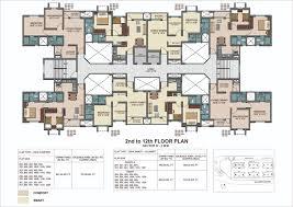 floor plans of sector ii b 3bhk flats in chakan dwarka township