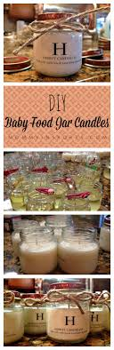 jar candle ideas diy baby food jar candles