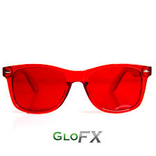 redcolor red color therapy mood glasses by glofx