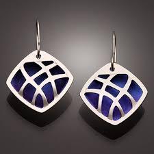 niobium earrings handcrafted sterling silver earrings from david smallcombe