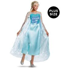 plus size women s halloween costumes cheap disney frozen plus size deluxe elsa dress buycostumes com