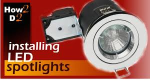 downlights installation how to wire spotlights youtube