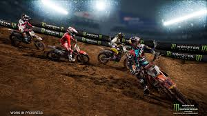 motocross in action monster energy supercross the official videogame game ps4