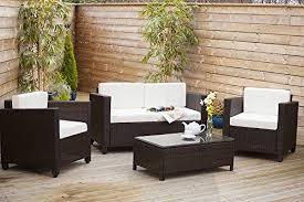 new roma rattan wicker weave garden furniture patio conservatory