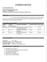 Sap Bi Resume Sample For Fresher by It Engineer Fresher Resume