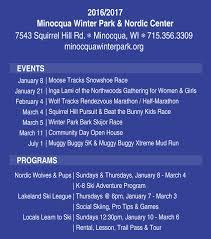 event calendar minocqua winter park