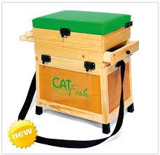 siege de caisse caisse à pêche cat fish rustic tout bois produit fabriqué ou