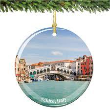 amazon com venice christmas ornament italy porcelain 2 75