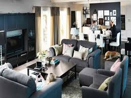 Black Modern Living Room Furniture by A Living Room With A Grey Three Seat Sofa Chaise Lounge And A