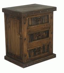 sideboard rustic night stand w iron wood night stand 3 drawer