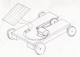 car drawing solar power car project