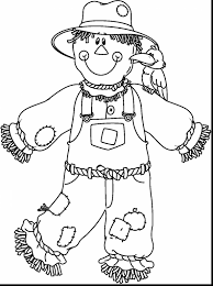 coloring pages scarecrow coloring