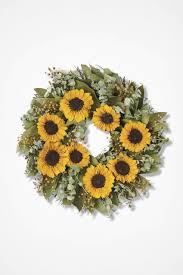 sunflower wreath sunflower wreath coldwater creek