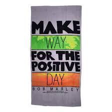 Bob Marley Home Decor Bob Marley Make Way For The Positive Day Beach Towel Liquid Blue