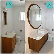 Modern Vanities For Small Bathrooms Before And After Mid Century Modern Bathroom Sinks Vanities For
