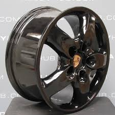 porsche cayenne replica wheels porsche cayenne 5 spoke gloss black 18 inch alloy wheels