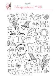 Coloriage Happy 1er Mai  Momesnet