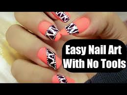 super easy nail art for beginners with no tools nail art at home