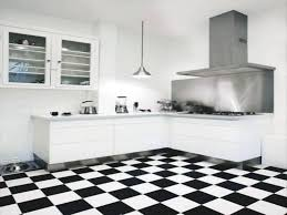 interior black and white tile floor kitchen with regard to