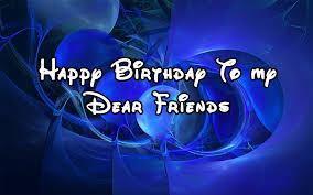 birthday to my dear friends graphic