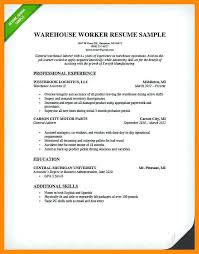 warehouse worker resume warehouse resume warehouse worker worker resume sle