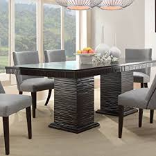 Espresso Kitchen Table by Amazon Com Homelegance Chicago Double Pedestal Dining Table In